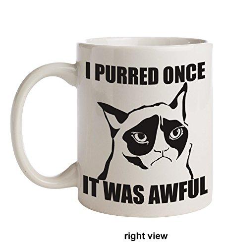 I Purred Once It Was Awful Grumpy Cat Coffee Mug