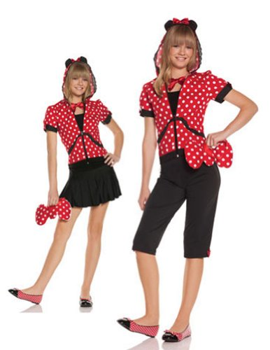Kids-Costume Miss Mouse Jr Sm-Md Halloween Costume - Child Small-Medium