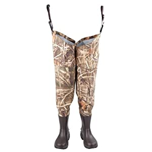 Hodgman Waterfowl Breathable Hip Wader with EVA Boot (Mossy Oak Duck Blind Camo, 9) by Hodgman