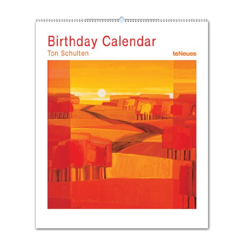 2014 Ton Schulten Vertical Birthday Calendar