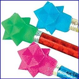 Star Wedge Cap Erasers - 144 per set