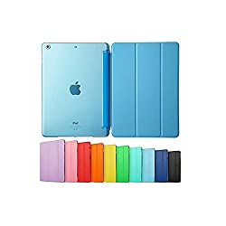 Smart Cover forIPAD 2/3/4, Go Crazzy Translucent Back Flip Case for IPAD 2/3/4 (Sky Blue)