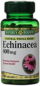 Nature's Bounty Natural Whole Herb Echinacea 400mg, 100 Capsules