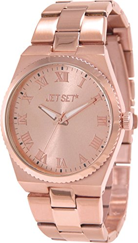 Jet Set 15225 J6110R-022 - Orologio da polso da donna, cinturino in acciaio inox colore fucsia