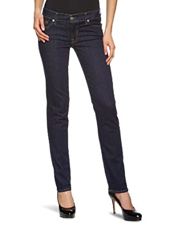 7 for all mankind Damen Jeans Normaler Bund SWXJ300LV, Gr. 24/34, Blau (Las Vegas Deep 100)