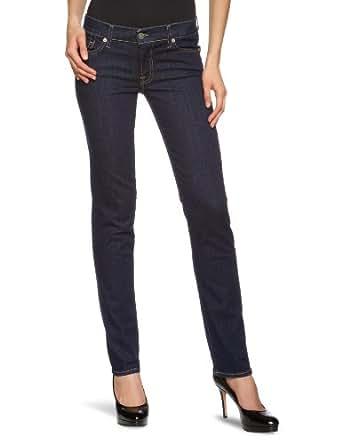 7 for all mankind Damen Jeans Normaler Bund SWXJ300LV, Gr. 24/34, Blau (Las Vegas Deep 100)