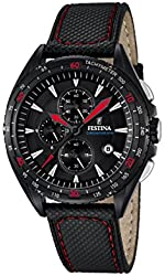 Men's Watch - FESTINA - Leather Band - Chronograph - F16847/4