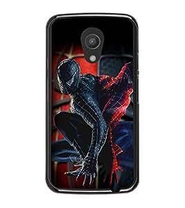 Printvisa Spider Man Replica Pic Back Case Cover for Motorola Moto G2 X1068::Motorola Moto G (2nd Gen)