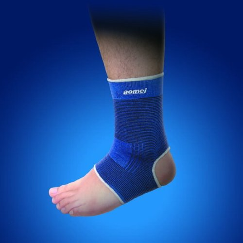 GQSport Ankle Support Foot Brace Pain Relif Elastic Blue 8742 X 1 pair