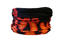 Multifunction Neckwarmer, Snood, Hat, Scarf and Hood in Flame print by Monogram