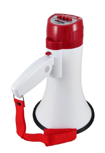 Brand NEW 15w Megaphone Bull Horn Loud Speaker White