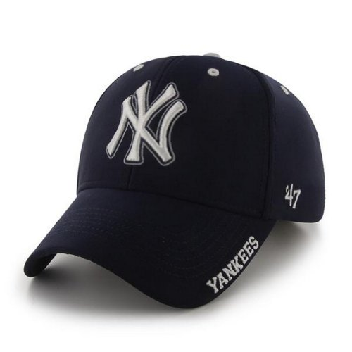 Mlb New York Yankees '47 Brand Condenser Adjustable Cap, One Size, Navy front-1036799
