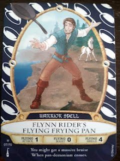 Sorcerers Mask of the Magic Kingdom Game, Walt Disney World - Card #07 - Flynn Rider's Flying Frying Pan