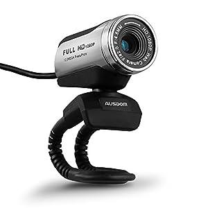 AUSDOM ウェブカメラ FullHD(1080P)画質 ウェブカム 1/4.5インチCMOSセンサ200万画素 マイク内蔵 360度回転 AW615
