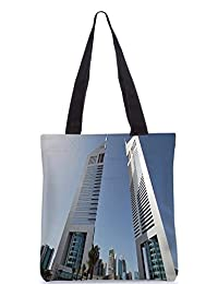 Snoogg Anlge Of The Buidling Digitally Printed Utility Tote Bag Handbag Made Of Poly Canvas