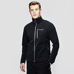 Columbia Men\'s Fast Trek II Full Zip Fleece Jacket, Black, Large