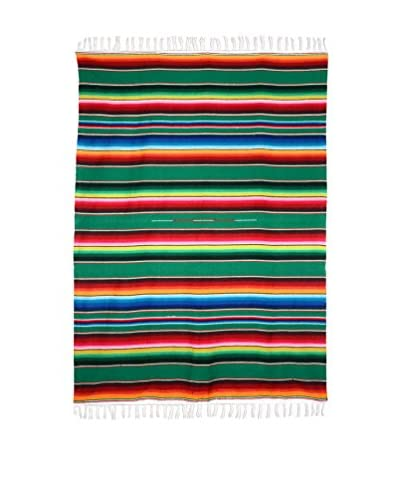 Uptown Down Traditional Authentic Serape, Green