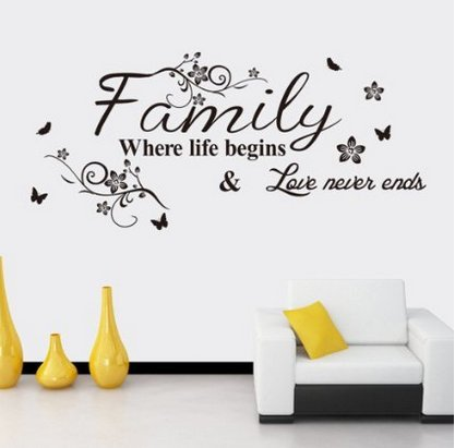 EMIRACLEZE Cyber Monday Warm and Sweety Family Love Removable Mural Wall Stickers Wall Decal for Living Room Home Decor