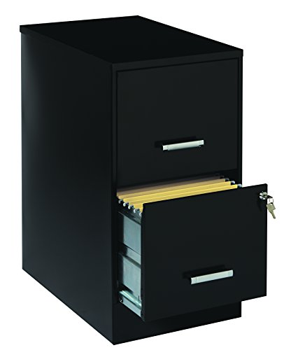 Space solutions 2 drawer file cabinet 22 inch deep black for 22 deep kitchen cabinets