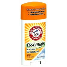 Arm & Hammer Essentials Natural Deodorant, Unscented, 2.5 oz.