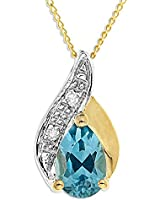 Ornami Glamour 9ct Yellow Gold accent Pendant on 46cm chain