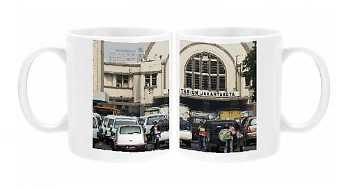 Photo Mug Of Main Railway Station, Jakarta, Java, Indonesia, Southeast Asia, Asia
