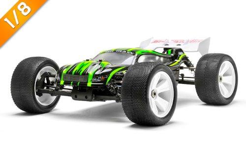 Iron Track Raider MegaE8MTL 1:8 SCALE ARTR 4WD Brushless Monster Truck (Green)