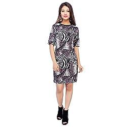 Bonne Vie Women's Cotton Dress (Zebra_Black_Medium)