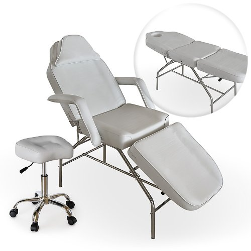Professional Multi Purpose White Salon Chair Massage Table With Adjustable