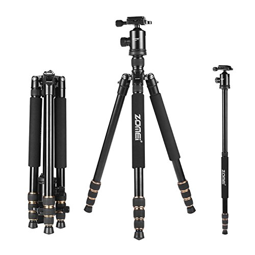 Zomei-65-Lightweight-Professional-Compact-Tripod-Monopod-with-Ball-Head-Travel-Bag-for-Canon-Nikon-Sony-Olympus-Panasonic-DSLR-Camera