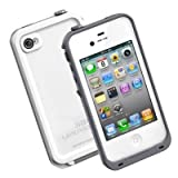 GEARONIC White Waterproof Shockproof Full Body Skin Case Cover Pouch for iPhone 4 4S 4G, Multi Purpose Protective Skin for water, shock, snow, dirt