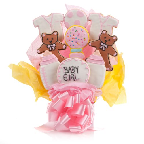 It's A Girl! Cookie Bouquet- 9 Pc Bouquet