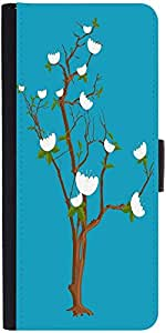 Snoogg White Daisies Branches Designer Protective Flip Case Cover For Samsung...