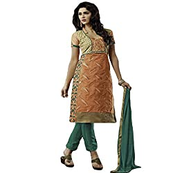 Typify Women's Chanderi Unstitched Dress Material (TYPIFY231_Multicolor_Free Size)