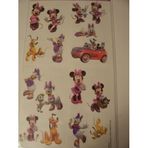 Clubhouse Tattoos ~ Minnie, Daisy, & Pluto Fun! (16 Tattoos, 1 Sheet