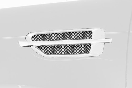 TRex Grilles 54199 Upper Class Small Mesh Stainless Polished Finish Side Vent Insert for Cadillac Escalade (T Rex Hood Vents compare prices)