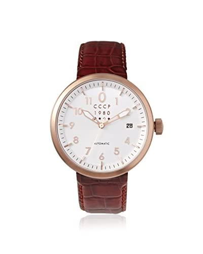 CCCP Men's 7008-04 Kashalot Analog Display Automatic Self Wind Brown Watch