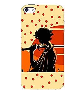 PrintDhaba Sword Girl D-5087 Back Case Cover for APPLE IPHONE 4 (Multi-Coloured)