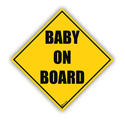 Zento Deals Baby on Board Reflective Magnetic Sign