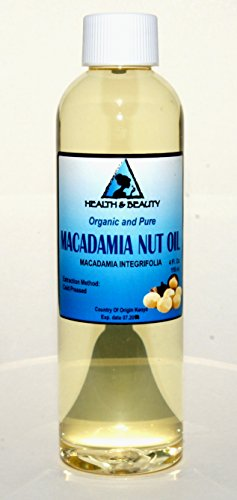 Macadamia Nut Oil Organic Carrier Cold Pressed 100% Pure 4 Oz front-945845