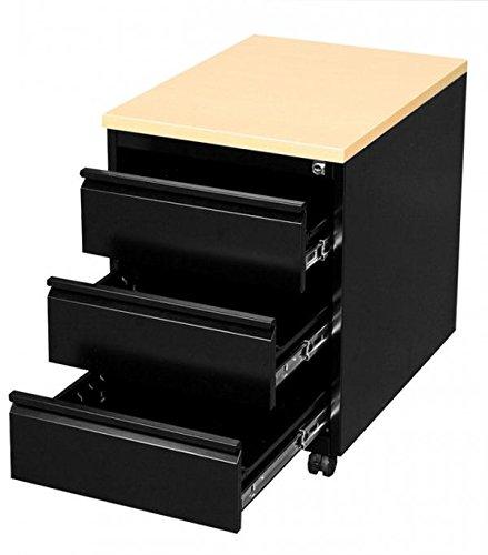 PROFI-STAHL-BRO-ROLLCONTAINER-BROCONTAINER-schwarz-505301-Mae-620-x-460-x-600-mm