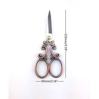 yueton Vintage European Style Needlework Embroidery Scissors (Copper)