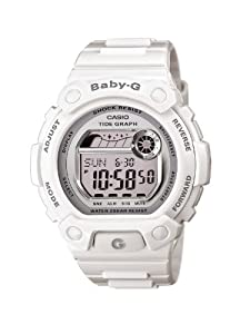 Casio - BLX-103-7ER - Baby-G - Montre Femme - Quartz Digital - Cadran Gris - Bracelet Résine Blanc