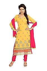 Vardhman MAHEK 60GRAM Mustered Georgette unstitched Straight Salwar Suit Dress Material