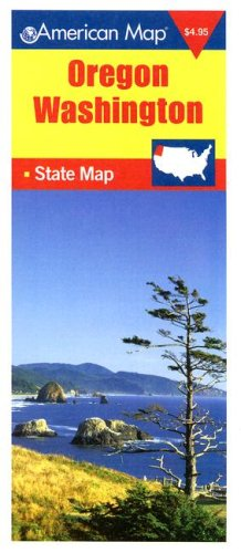 American Map Oregon/Washington State Map