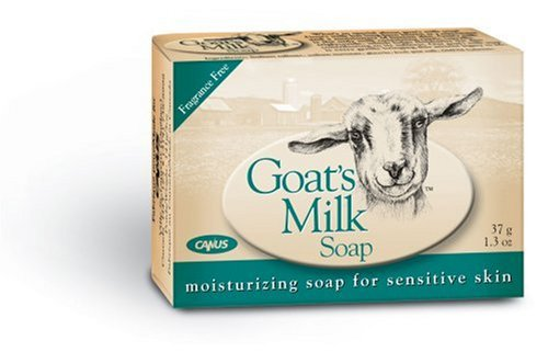 Canus Goat's Milk Soap, Fragrance Free Moisturizing Soap for Sensitive Skin (1.5 oz) (Pack of 12)
