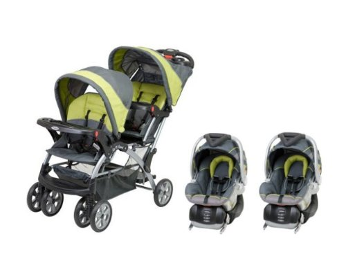 BABY TREND Sit N Stand Double Travel System - Carbon