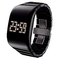 [オーディーエム]o.d.m 腕時計 illumi+(イルミプラス) デジタル表示 LEDディスプレイ フリースイッチ・タッチスライド機能搭載 ブラック DD133-1 レディース 【正規輸入品】