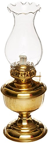 """Handcrafted Nautical Decor Solid Brass Table Oil Lamp, 10"""", Brass"""