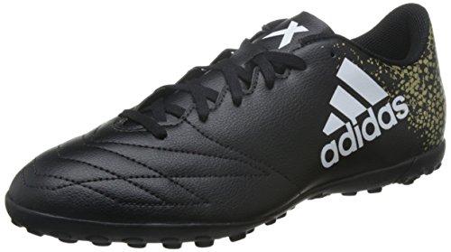 Adidas X 16.4 Tf - Scarpe da Calcio Uomo, Nero (Core Black/Ftwr White/Gold Met), 42 2/3 EU